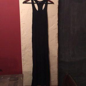 Black Sparkle & Fade Racerback Maxi Dress